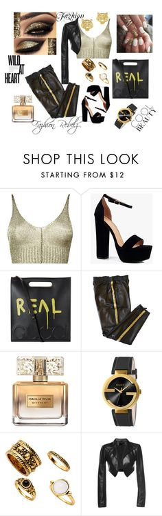 """""""Famous"""" by shaquanna-keith ❤ liked on Polyvore featuring Boohoo, Gucci, Emilio Pucci, Givenchy, Kenzo and Leka"""
