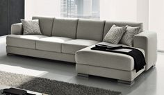 couches and sofas | Sofá Berloni com chaiselong