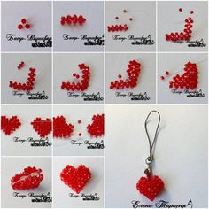 You can use bean or pearl to make a beautiful heart-shaped necklace.