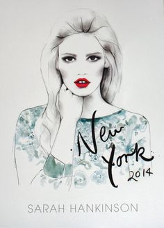 Verkamille: 2014 Calendar from Sarah Hankinson Fashion Illustrator