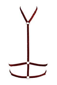 Kaylaa elastic lingerie harness in red glitter http://www.estylingerie.com/epages/BT3917.sf/en_GB/?ObjectPath=/Shops/BT3917/Products/2289
