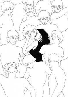 Sivan Karim Illustrations is part of Art sketches karimsivan com - Art Sketches, Art Drawings, Fashion Sketches, Urbane Kunst, Art Graphique, Oeuvre D'art, Wall Collage, Gouache, Dark Art