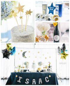 Twinkle Twinkle Little Star themed birthday party via Kara's Party Ideas   KarasPartyIdeas.com #twinkletwinklelittlestarparty (2)