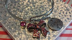 Family adjustable charm Bracelet by AdelaidsCreations on Etsy