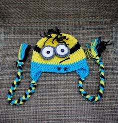 Crochet minion hat. Despicable me hat. Made to order by darina23