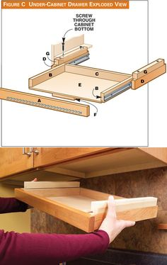 Under the Cabinet Knife Drawer! Great space saving Idea