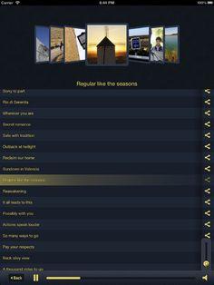 Le features comprendono:    - diario di viaggio  - mappa con geolocalizzazione  - numerose gallery fotografiche  - playlist musicale composta da 17 tracce dedicate    Viaggiatori solitari #App