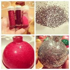 DIY Decor: Painted + Glitter Ornaments | design + life + kids