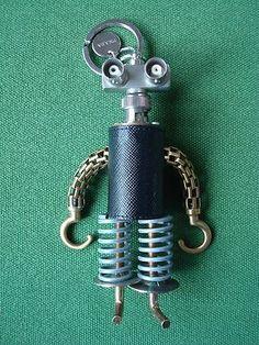 adce3821ad3186 PRADA Handmade by Artist ROBOT Key Ring Chain Keyring Handbag Charm Domo  Arigato, Key Rings
