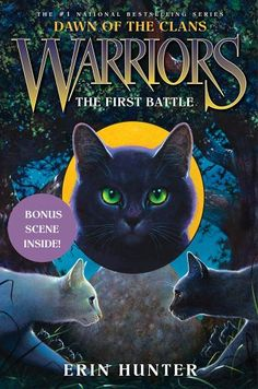 The First Battle (Warriors: Dawn of the Clans, Book 3) by Erin Hunter,http://www.amazon.com/dp/0062063537/ref=cm_sw_r_pi_dp_Pauttb1PSEBBQNAS