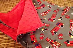 Firefighter Baby Blanket by FirehouseDogFred on Etsy $28.87