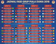 Jadwal Lengkap Piala Dunia / World Cup 2018 World Cup Russia 2018, World Cup 2018, Periodic Table, Weather, Football, Sports, Soccer, Hs Sports, Periodic Table Chart