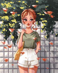 Various Artists, Beautiful Soul, Anime Art Girl, Cartoon Art, Amazing Women, Illustrators, Disney Characters, Fictional Characters, Illustration Art