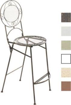Garten Outdoor Barhocker / Barstuhl NADIA, Klappbar, Sitzhöhe 72 Cm,  Romantisches Design, Eisen (Metall) Handgefertigt Jetzt Bestellen Unter: ...
