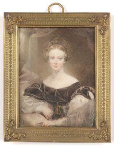 "James Holmes (1777-1860)""Portrait of Mrs. Bardeley"",high quality large miniature #PortraitMiniatures"
