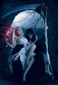 """Grim evening"" - Fantasy Photo Retouch by Michelle Monique Arte Final Fantasy, Dark Fantasy Art, Fantasy Artwork, Dark Art, Grim Reaper Art, Don't Fear The Reaper, Evvi Art, Elfa, Angels And Demons"