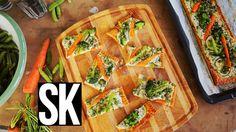 Ricottás zöldséges pite - Street Kitchen Spanakopita, Vegetable Pizza, Naan, Thai Red Curry, Cooking Recipes, Meatless Recipes, Minion, Ricotta, Snacks