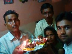 With chacha ji,,Ma or bapu