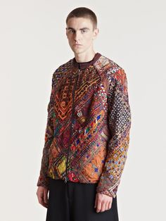 By Walid Men's Mirror Silk Jacket