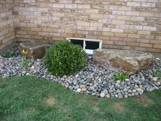 Gravel Around The Foundation For Drainage Plant Shrubs Along To
