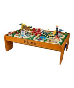 Take a look at this KidKraft Ride Around Town Train & Table Set by Very Special: Personalized Toys on #zulily today!