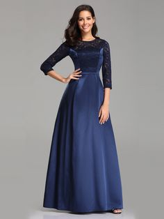 Ever-Pretty Womens Elegant Sleeve Floral Lace Satin Evening Prom Dresses for Women 07720 - Elegant Dresses - Ideas of Elegant Dresses Affordable Prom Dresses, Prom Dresses For Sale, A Line Prom Dresses, Satin Dresses, Party Dresses, Evening Dresses Online, Cheap Evening Dresses, Elegant Dresses, Celebrity Gowns
