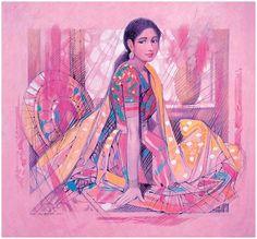 Artist Painting, Figure Painting, Figure Drawing, Indian Artwork, Indian Art Paintings, Indian Comics, Fantasy Art Women, Illustration Art, Illustrations