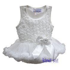 Baby Romantic Off White Rosettes Bodysuit Pettidress