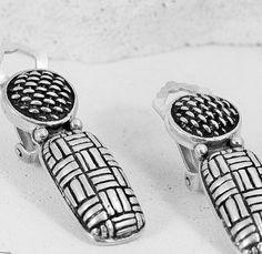 EARRINGS Sterling Silver BALI Woven Work on by joannan3sterling