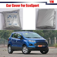 Cawanerl Car Cover Outdoor Anti-UV Sun Shade Snow Rain Resistant Protector Car-Cover For Ford EcoSport