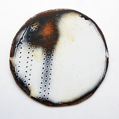 Amanda Denison brooch. Enamel and rusted steel.