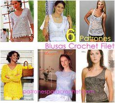 patrones y moldes de blusas tejidas con ganchillo