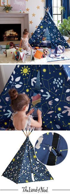 Little stargazers will think our Genevieve Gorder for Nod teepee is a dazzling choice for kids rooms and playrooms.