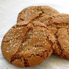 Molasses Sugar Cookies -- These are a wonderful chewy spice cookie. They are drop cookies that keep very well. I make them at the beginning of the holiday season and they keep all the way to New Year's!