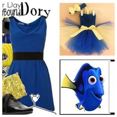 dory costume | DARK BLUE DRESS FOR A DORY COSTUME on The Hunt