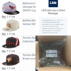Mail Call today got my gift card from Lids for winning a daily prize for #nationalhatday and I didn't waste any time using it up because there's always something to pick up. #lids #lidscanada #lidsloyal #lids4hats selfmade#lidsambassador #raptors #bluejays #buffalobills #orioles #newera #neweracap #neweracanada #canadianfittedcrew #nostickercrew #teamfitted #flyyourownflag #thisisthecap @lids @lidscanada @neweracap @neweracanada