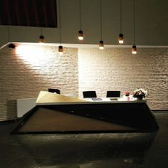 Office refurbishment using Latte Brick slips as the feature