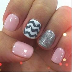 The chevron would be difficult to do, but this looks so cute! Maybe if I wanted to be fancy &go get my nails done :)