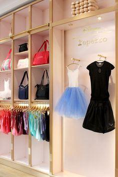 Collaboration X Disney - Cinderella 'Dream Ball' collection - Repetto's… Ballet Shop, Ballet Studio, Ballet Dance, Boutique Repetto, Dance Studio Design, Ballet Decor, Dance Shops, Boutique Decor, Ballet Fashion