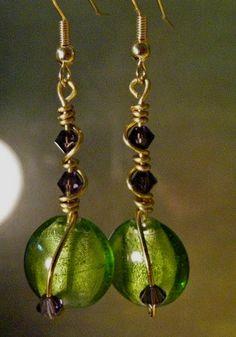 Handmade Earrings, Available on Etsy