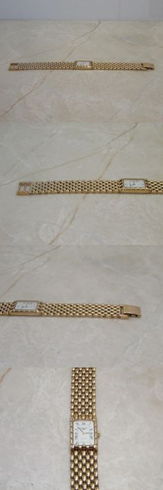 Watches for Parts 165144: Vintage Longines Flagship Qwr Swiss Womens Wrist Watch Gold Tone Mesh Band BUY IT NOW ONLY: $79.99