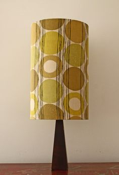 Gorgeous Handmade Lampshade - 1950s Scandinavian fabric Ingrid Elfvin for Tuppen-Textil.