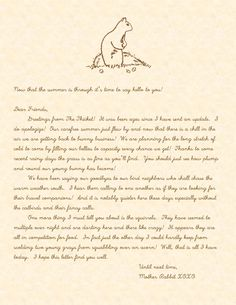 Mother Rabbit's Fall Letter | Doodles and Jots