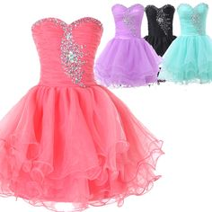 CHEAP Beaded Homecoming Dress Formal Evening Party Graduation Short PROM Dresses…