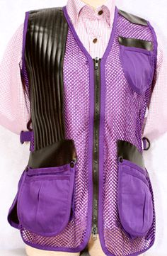 "MizMac - ""Perfect Fit"" All Mesh Shooting Vest Purple Shooting Gear, Survival Gear, Outdoor Camping, Country Girls, My Mom, Perfect Fit, Camo, Vest, Purple"