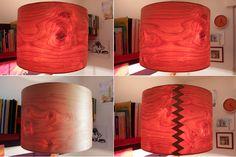 "55cm / 21"" maple veneer lampshade with zickzack overlap"
