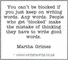 Quotable - Martha Grimes - Writers Write