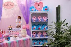 Doc McStuffins birthday party! See more party planning ideas at CatchMyParty.com!
