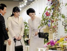 The Japanese Imperiale Courts: Princesses of Akishino at Kyoto Flower Fair   Her Imperial Highness Princess Kiko Princess of Akishino(wife to Fumihito Prince Akishino-Son to Emperor Akihito and Empress Michiko) and her eldest of three children who recently graduated HIH Princess Mako attended the Japan Flower Design Award 2016 in Kyoto City Kyoto Prefecture. Photo Credits:Yomiuru  Imperial household agency Imperials Japan Japan Imperial House Japanese Japanese Imperiale Family Japanese style…