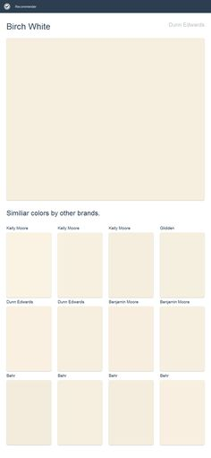 Birch White Dunn Edwards Click The Image To See Similiar Colors By Other Brands